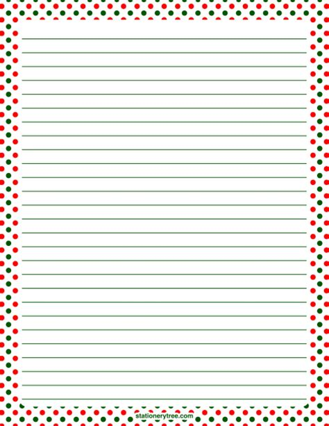 printable christmas writing paper stationery printable christmas polka dot stationery and writing paper