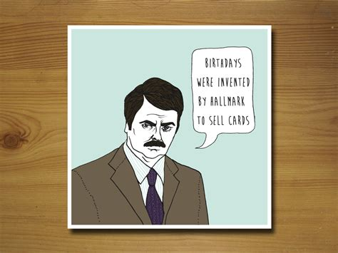 Parks And Rec Birthday Card Request A Custom Order And Have Something Made Just For You