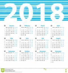 Kalender 2018 Vector Vector Het Ontwerpmalplaatje Het Kalender 2018 Jaar