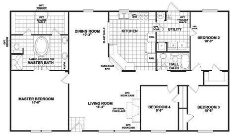 large modular home floor plans double wide manufactured home plans