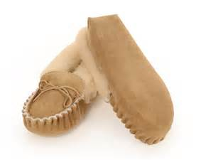 Cowhide Wallets Sheepskin Moccasin Slippers Charlotte Pure Sheepskin