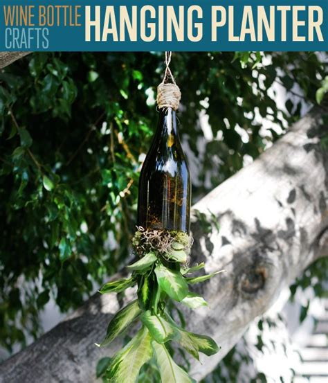 How To Make A Wine Bottle Planter by Wine Bottle Crafts How To Make Wine Bottle Planters