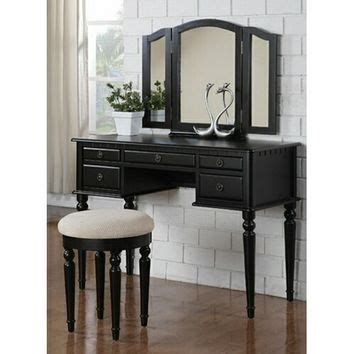 3 pc white finish wood make up bedroom from amb furniture and best tri fold mirror products on wanelo