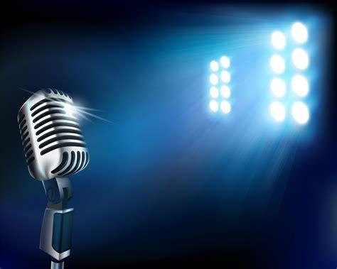 Lu Led Jazz microphone on stage fari a led su microfono www audio
