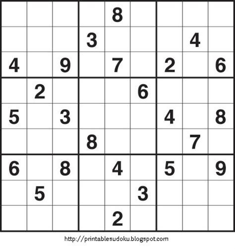 printable sudoku hard puzzles printable sudoku