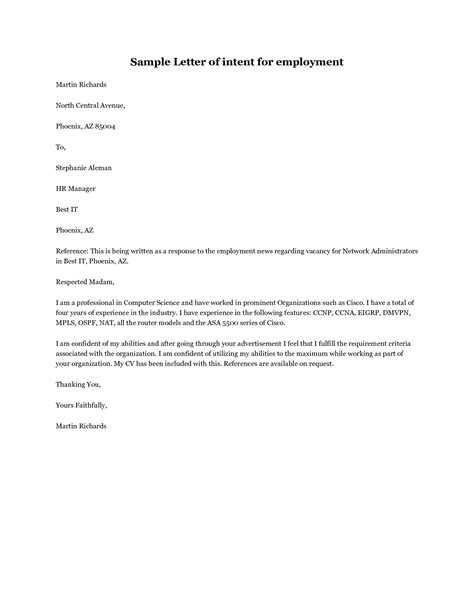 15 letter of intent template for both parties