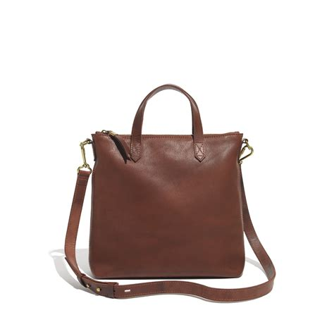 lyst madewell  mini transport crossbody  brown