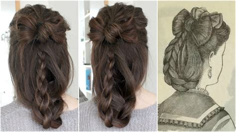 hair bow historical hairstyling youtube
