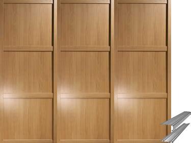 Www Wardrobes by Shaker Framed Oak Effect Mirror Sliding Wardrobe Door System