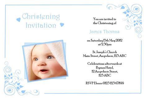 boy baptism invitation templates personalised boy photo christening invitations design 2