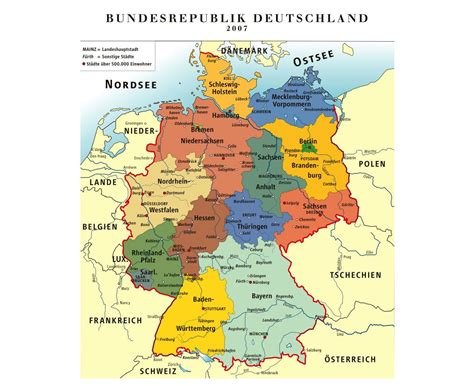 large map of germany maps of germany detailed map of germany in