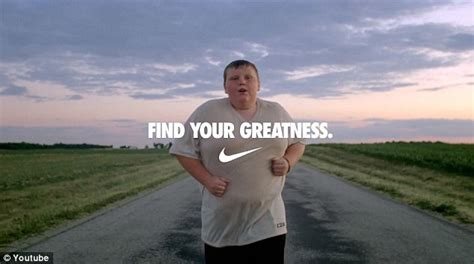 commercial girl running find your greatness advert story behind 200lb jogging boy
