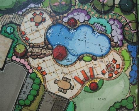 free landscape design layout pool configuration with sun shelf pool pinterest