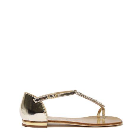 giuseppe zanotti gold sandals giuseppe zanotti leather gold sandals in gold lyst