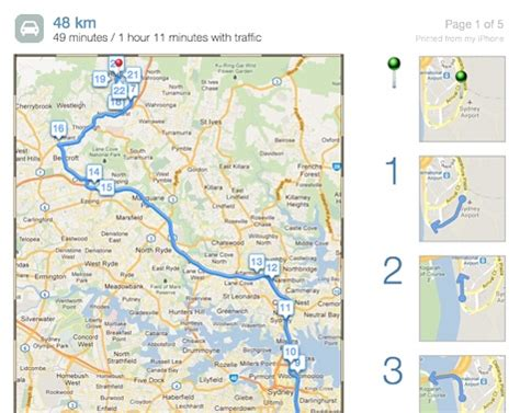 print driving directions ipad print maps directions directly from an iphone ipad