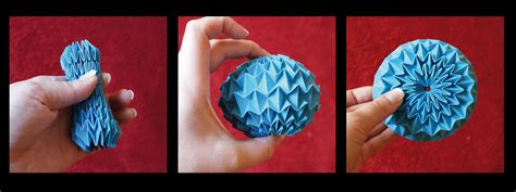 How To Make Origami Balls - origami magic blue by kleinalaine on deviantart