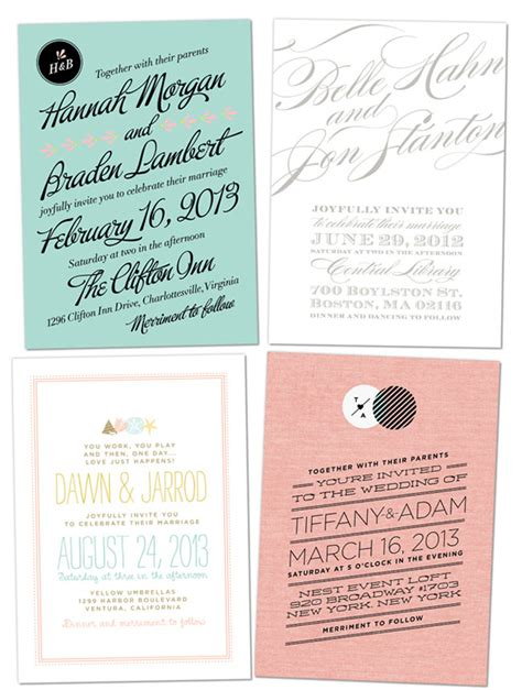 Hip Wedding Invitation Wording by Vs Design Wedding Invitations