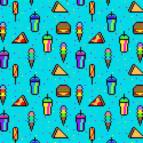 pixel pattern tumblr food background tumblr