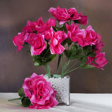 168 silk open roses wedding flowers bouquets wholesale supply centerpieces sale ebay