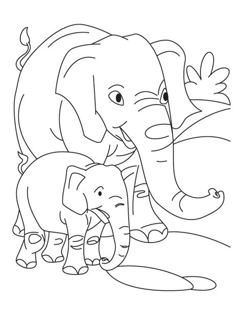 free coloring pages of animals and their babies elephant with baby elephant coloring pages download free
