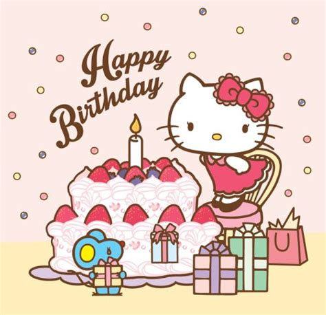 hello kitty wallpaper happy birthday everyone say happy birthday to the coolest cat in town