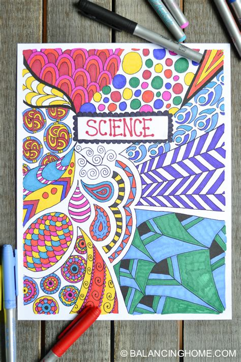 printable binder covers to colour 10 creative easy ways to decorate school notebooks