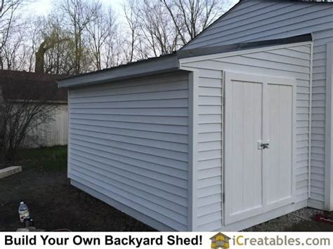 completed lean  shed attached  existing house