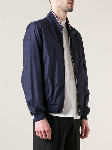 Parka Jacket Sweater Jaket Jaket Bomber Jaket Wanita lyst moncler bomber jacket in blue for