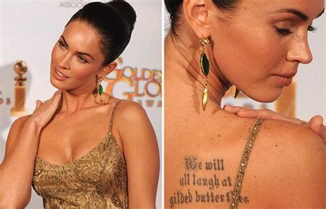 megan fox tattoos megan fox tattoos fashion and styles