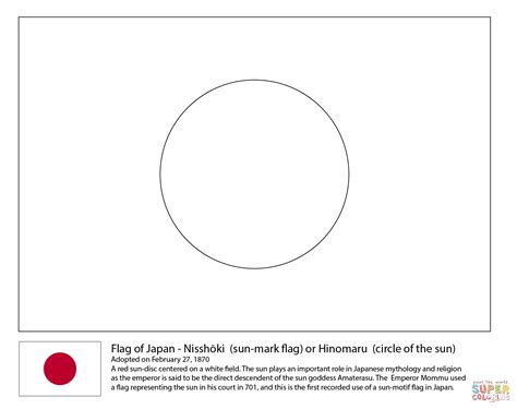 flag of japan coloring page free printable coloring pages