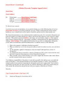 appeal letter template for medical necessity letter