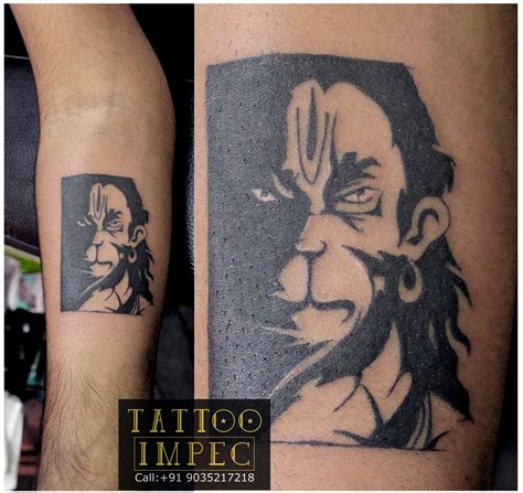 bajrangbali hanuman tattoo get inked from