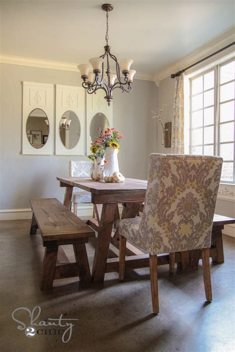 Dining Room Bench Diy Diy 40 Bench For The Dining Table Shanty 2 Chic