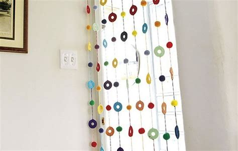 Bright Colorful Kitchen Curtains Inspiration Free Pattern This Colorful Curtain Will Make Your Home Look Bright And Of Knit And