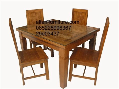 Meja Makan Lb Furniture set meja makan jati meja makan keluarga alfahi furniture