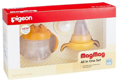 Pigeon Import Magmag Mag Mag Cup All In One Set Gelas Bayi 53 pigeon magmag import all in one cup bungaasi