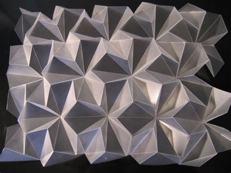 Folded Paper Patterns - folded frosted polypropylene today and tomorrow