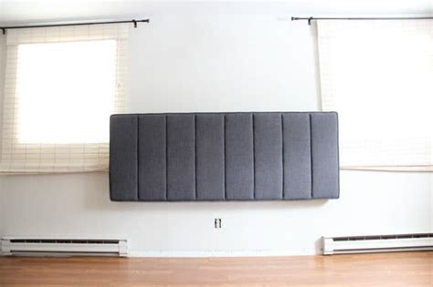 headboard wall mount hardware how to mount a headboard with space for curtains bright