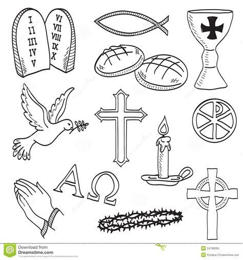 Tattoovorlagen Religiöse Tattoos 5796 by Christelijke Symbolenillustratie Royalty Vrije