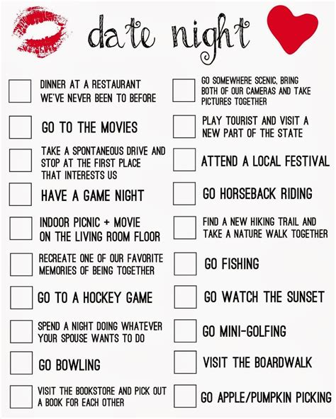 fun date ideas for teenagers gift to get a guy for date night printable living la vida holoka