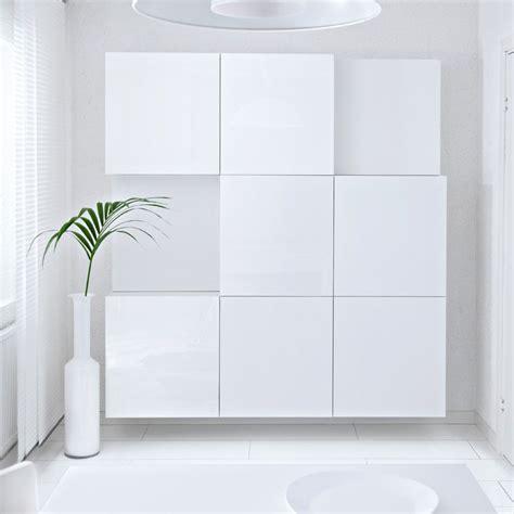 besta gloss white best 197 white shelf units with white high gloss doors ikea