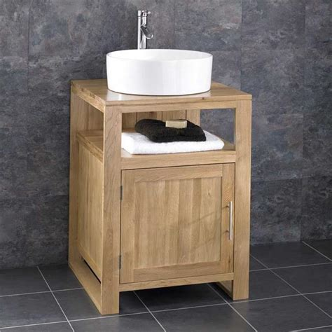 bathroom wash stand cube solid oak freestanding 55cm washstand sink washbasin bathroom cabinet basin ebay