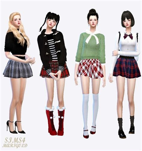 Skul Hotpants Strech 245 Best Sims 4 Clothing Images On