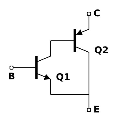 darlington transistor configuration sziklai pair