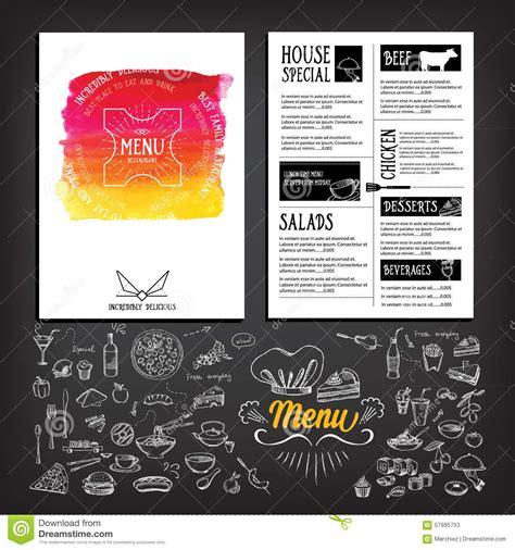 food menu restaurant template design flyer cafe