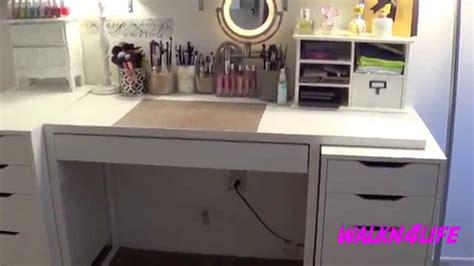 makeup table organization ideas walkn4life my vanity table set up makeup organization