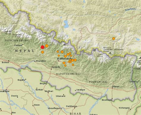 earthquake locations earthquake in nepal science media health risks in