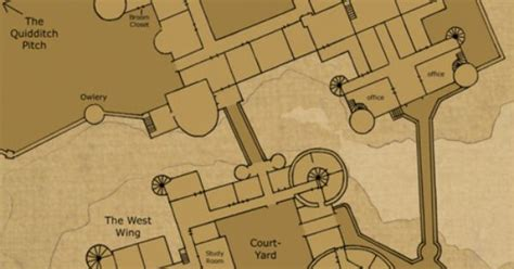 Map Of Hogwarts Castle All Floors by Hogwarts School Of Witchcraft And Wizardry Ground Floor
