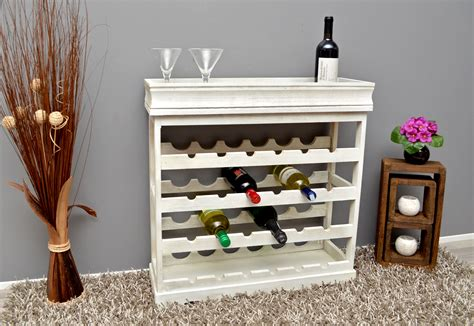 white wood wine cabinet wine rack shabby style 70 x 70 for 24 bottles white wood