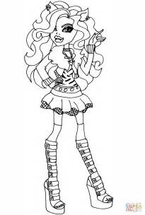 high coloring pages pdf high clawdeen wolf coloring page free printable